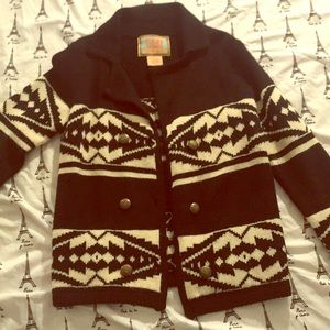Black and white tribal cardigan